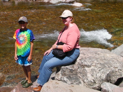 Picture of Cathy and Nick by Gore Creek