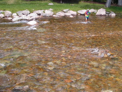 Picture of Nick crossing Gore Creek